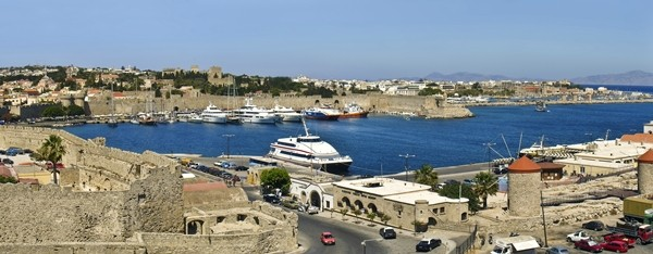 Rhodes Port and Castle