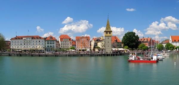 Bodensee, port of Lindau island