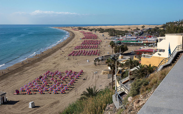 Gran Canaria, Playa del Ingles beach