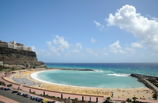 Playa de los Amadores beach on Grand Canaria