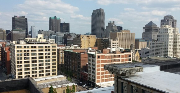 St Louis, from-top-of-city-museum